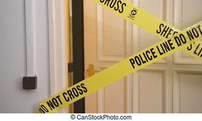 Yellow Plastic Crime Scene Do Not Cross Tape