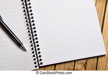 Blank paper with pen