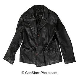 coat - leather coat on the white