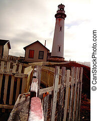 Lighthouse in Northern California - view of historic...