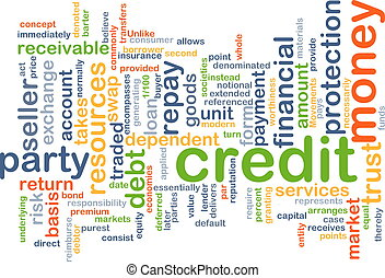 Credit wordcloud concept illustration