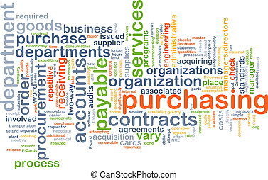 Purchasing wordcloud concept illustration - Background text...