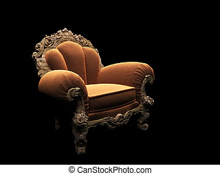 classic chair in the dark