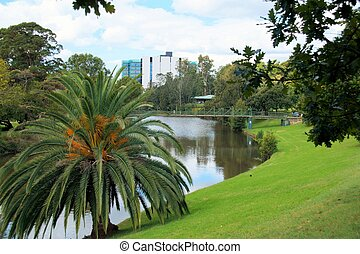 Parramatta River in Parramatta, Au - The Parramatta river in...