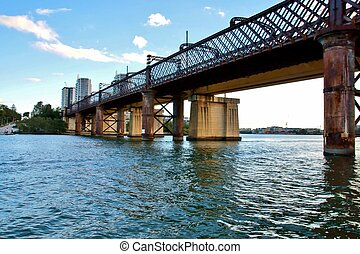 Old Meadowbank railway bridge, NSW - The Old meadowbank...