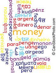 Money multilanguage wordcloud background concept