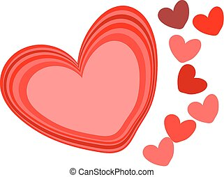 hearts backgound - Creative hearts for background