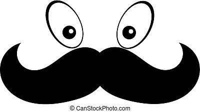 Mustach with eye - a cartoon face mustach