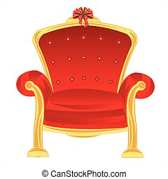 Easy chair - Red easy chair on white background is insulated