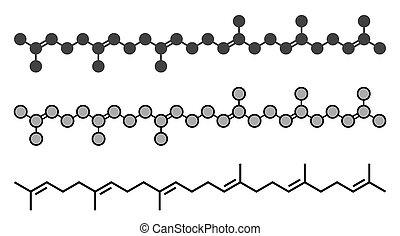 Squalene natural hydrocarbon molecule. Found in shark liver...