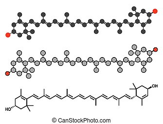 Lutein yellow-orange plant pigment molecule. Used as food and feed additive but also naturally present in many vegetables.