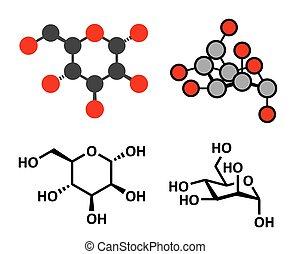 Mannose (D-mannose) sugar molecule. Epimer of glucose....