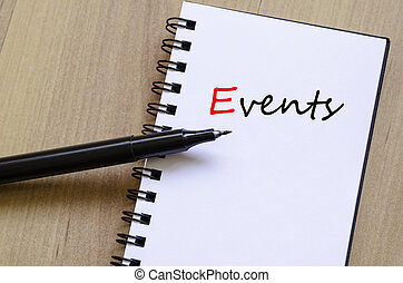 Events concept notepad
