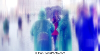 Abstract background. Rainy Day. Hauptmarkt, the central...