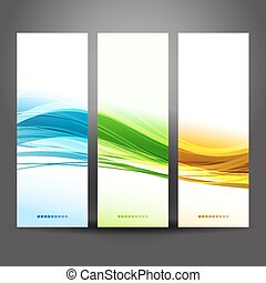 Collection banners modern wave design - Vector illustration...