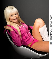 Woman - sexy woman sitting in a chair