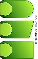 Collection stickers with curled up edge. Vector illustration