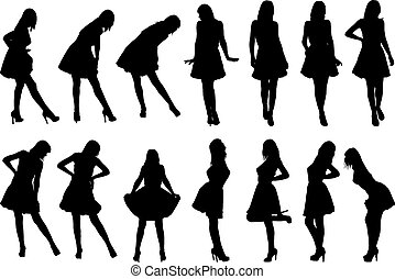 girls in various poses