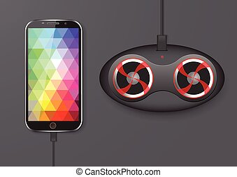 Mobile Phone and Speaker - Vector