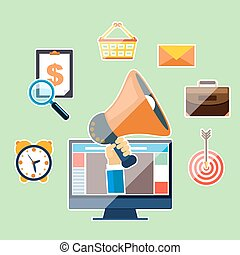 Marketing work tools concept - Business concept for...