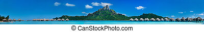 Bora Bora panorama - Beautiful view of Otemanu mountain on...
