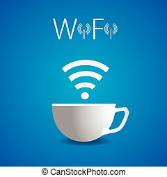 Free, wifi, cafe, poster