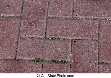 Stone blocks grassed removed close up for use as a...