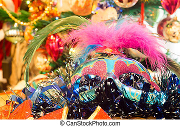 Christmas Blue Mask