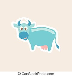 Vector illustration of Cartoon Cow - Vector illustration of...