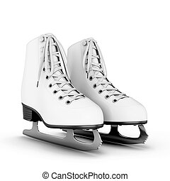 Figure skates on a white - Figure skates isolated on white...