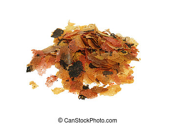 Aquarium fish flake food - Flaked food for aquarium fish