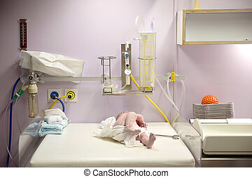 recién nacido, cubierto, entrega, después,  vernix