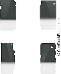 Set memory card, vector