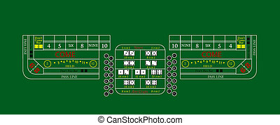 Craps table texture - Texture of the markings on a craps...