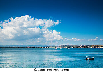 Siracusa - landscape of Siracusa village, sicily Italy