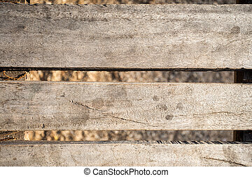 wooden bridge floor