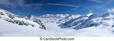 Jungfrau region - Winter landscape in the Jungfrau region