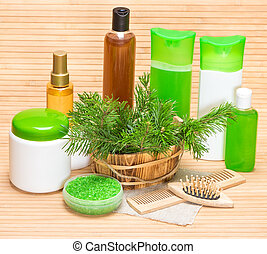 Natural cosmetics and accessories for hair health and...