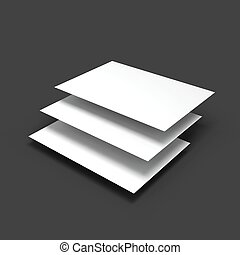 Stack of pages with curved corners. Business mockup...