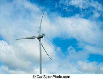 Wind turbine with the background of the sky - Wind turbine...