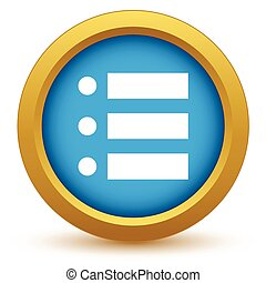 Gold ordinal list icon on a white background Vector...