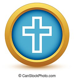 Gold Christianity icon