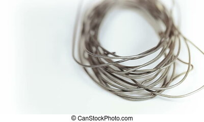 Coil of wire - On rotating table is coil of wire