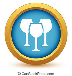 Gold stemware icon on a white background Vector illustration...