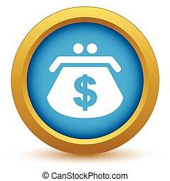 Gold dollar purse icon