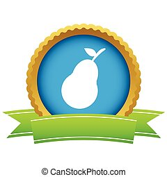 Gold pear logo