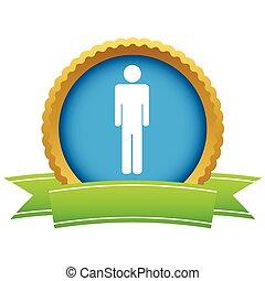 Gold man logo