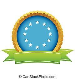 Gold European Union logo