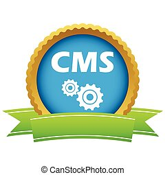 Gold cms logo on a white background. Vector illustration