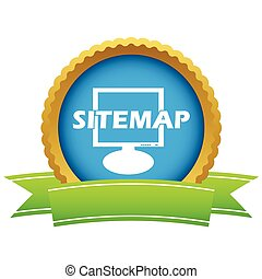 Gold sitemap logo on a white background Vector illustration